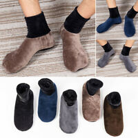 Unisex Men Home Indoor Fleece Thick Bed Sock Non Slip Slipper Soft Floor Socks