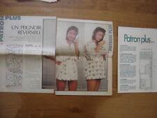 Patron Plus Patroon PEIGNOIR REVERSIBLE 52 MODE vintage FASHION