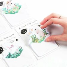 2pcs Random Style Cute Sticky Notes Memo Pad Rabbit Shape Paster Stickers