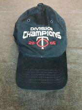 df987d68bd2a1 Minnesota Twins 2006 Division Champions Baseball Hat Cap Blue One Size