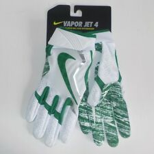 Nike VAPOR JET 4 Wide Receiver Gloves WHITE GREEN GF0572 110 Adult Size MEDIUM
