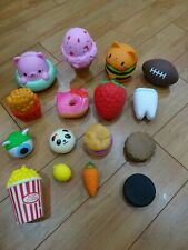 16 assorted squishies squeezable stress relievers small to large sizes