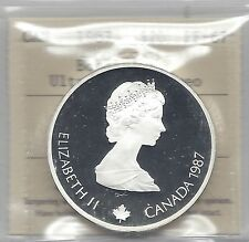 **1987**ICCS Graded Canadian Silver $20 **PF-67 UHC**Olympic Bobsleigh.