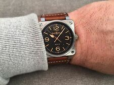 BELL & ROSS BR03 GOLDEN HERITAGE VINTAGE LOOK  MILITARY/PILOTS TYPE WATCH.