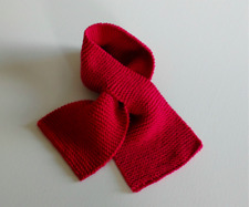 Hand knitted baby  wrap scarf, red, age 6-12 months