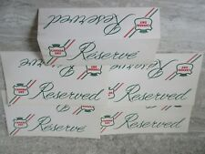 5 Old Vintage Canada Dry Ginger Ale Reserved Table Place Cards