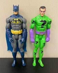 """The Riddler & Blue Gray Batman 12"""" Figure Set - Question Marks - Mattel"""