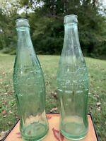 Coca Cola 1955 Vintage 12 Oz. Embossed Bottles Lot Of 2