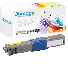 Toner type Jumao compatible pour OKI C510 C510dn C511 C511dn, Jaune 5000 pages