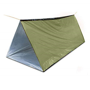 Emergency Survival Shelter Tent, 59 X 98.4inch Waterproof 2-Person Mylar Thermal