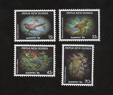 PAPUA NEW GUINEA - scott 645-648   VFMNH - BIrds, Ameripex 86 - 1986
