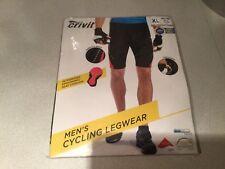 Pantalón corto para hombre Crivit ciclismo legwear () Nuevo Con Etiquetas Tamaño X Grande 46/48 Negro/Rojo