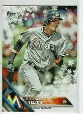 2016 Topps Baseball Holiday Snowflake #HWM186 CHRISTIAN YELICH Florida Marlins