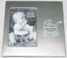 """Silvetone Metal 4"""" Cut-Out Baby Buggy Picture Frame Holds 2X3 Photo"""