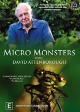 David Attenborough - Micro Monsters (DVD, 2014) R4 New, ExRetail Stock (D159)