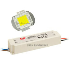 50W Warm White High Power LED Lamp Panel Mean Well  AC/DC LED Driver LPC-60-1750