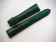 Original ZENITH Green Ostrich Watch Strap Band Stitched Padded 20mm Men's New