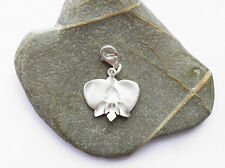 HAND MADE CHARM * ORCHID FLOWER * PLANT * STERLING SILVER 925 ARTISAN JEWELRY