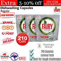 210 Fairy Platinum All-In-One Regular Dishwashing Tablets Dishwasher Capsules AU