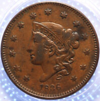 "1836  ""MATRON HEAD"" LARGE CENT, CHOICE VERY FINE, TOUGH OLD DATE, PROBLEM FREE!"