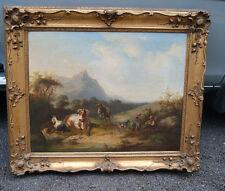 Josef Heicke Wien  Biedermeier Gemälde Almtreiben 1853