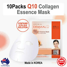 10x DERMAL Q10 Coenzyme Collagen Essence Facial Face Mask Sheet Skin Pack Korea