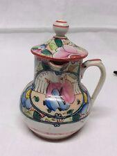 pot à creme ou lait dit au chinois POLYCHROME BAYEUX PERIODE LANGLOIS 1820-1840