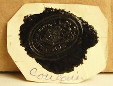 Famille Coulanier Cachet de cire armoiries seal Sceau héraldique blason tampon