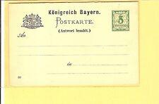 """Bayern / Mi.-Nr. P42/04 5/5 Pf. Doppel-GSK Druckdat. """"93"""" Wz 5Z, ungebr., Kab."""