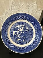 "Royal China Blue Willow Bread Dessert Plate Willow Ware 6 5/16"" Vintage"