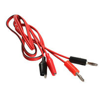 1m Alligator Test Cord Lead Clip to Banana Plug Probe Cable for Multimeter Test