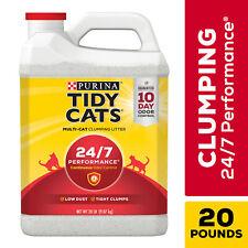 Purina Tidy Cats Clumping Cat Litter, 24/7 Performance Multi Cat Litter, 20 lb.
