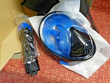 NEW! Findive Panoramic Viewing Area! Full Face Snorkel Mask Easy Breath. Size XL