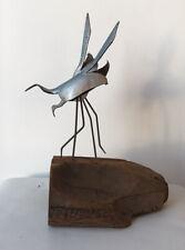 Harold Kerr Enamel on Copper Shorebirds Sculpture Mid Century Modern