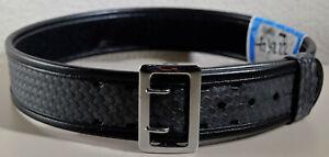 BIANCHI 7960 Size 34 Black Basketweave Accumold Elite SAM BROWNE Duty Belt 22219