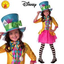 Disney Mad Hatter Costume Alice Wonderland Book Week Parade Girl Party Dress 6+