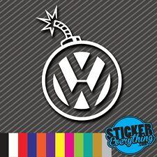 VW BOMB VINYL STICKER DECAL STATIC SLAMMED STANCE FRESH EURO GTI JETTA ILL D0004