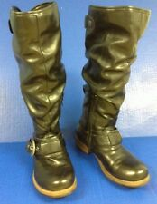 Nicole Black Boots 7.5 Tall Style Rachel Slouch Biker Fashion Fall Lined Warm