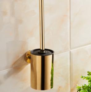 Gold, Chrome ,ORB or Black SUS 304 Toilet Brushes +Holder Bathroom Cleaner Sets