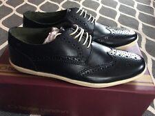 BASE LONDON Herrenschuhe Sneakers NEU Gr. 7 ( Gr.41) Schwarz Echtleder