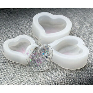 💕 PILLOW HEART 💕 SILICONE MOULD MEMORIAL KEEPSAKE EPOXY RESIN 3 SIZES LARGE UK