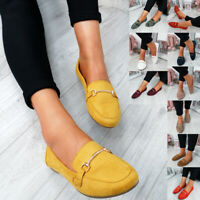 WOMENS LADIES SLIP ON COMFY BALLERINAS PUMPS FLAT CASUAL SHOES SIZE