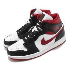 Nike Air Jordan 1 Mid Metálico Rojo Blanco Negro para Hombre estilo de vida informal 554724-122
