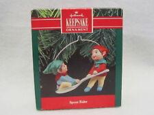 Hallmark Spoon Rider 1990 Christmas Ornament Elves Boys Ride Like a Sleigh
