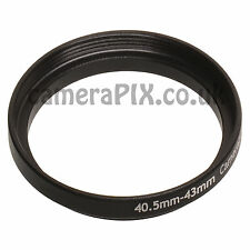 40.5mm to 43mm Male-Female Stepping Step Up Filter Ring Adapter 40.5mm-43mm UK