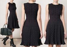 $4.500 NEW 36 38 XS S AZZEDINE ALAIA TOURBILLION PLEATED DRESS BLACK COCKTAIL
