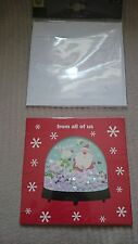 Marks And Spencer Handcrafted All Of Us Shaker Snowglob Christmas Card RRP £3.00