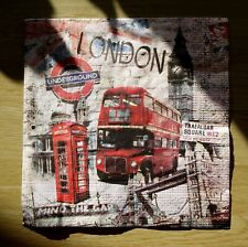 "Lot 3 serviettes en papier ""Bus de Londres"" (Paper Napkins), scrap, DIY"