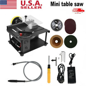 Mini Sliding Table Saw Woodworking DIY Hobby Model Cutting Bench Saw Household #