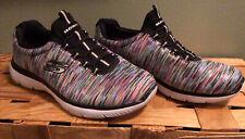 Nice SKECHERS Wide Fit Multicolor Memory Foam Pull Slide On Casual Shoe Sz 6.5W